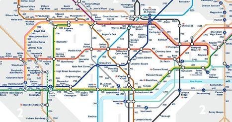 À Londres, le nouveau plan du métro indique le nombre de pas entre chaque station | L'Angle de la Terre and Co | Scoop.it