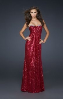 Brillante robe bustier de soiree rouge LF17458 : | Les Fashion robe de soirée 2013 | Scoop.it