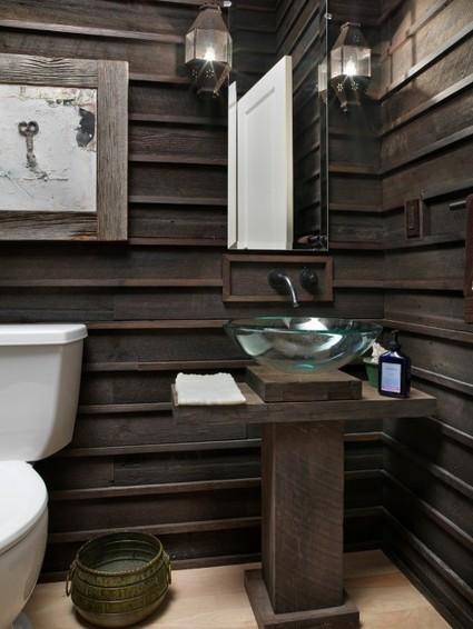 Kitchen & Bath with Salvaged Wood Planks | design, landscaping,building | Scoop.it