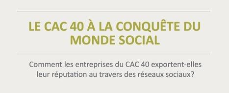 Etude : Le CAC40 à la conquête des réseaux sociaux | Veille | Scoop.it