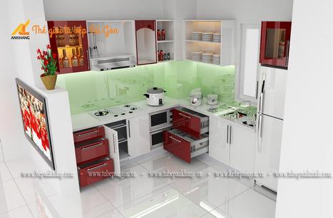 Tủ bếp gia đình chị NGA TBAK380. | Tủ bếp, Bếp An Khang tạo dấu ấn cho ngôi nhà VIỆT 0839798355 | Scoop.it
