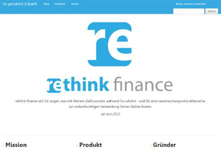 Start-up-Radar: rethink finance   press   Scoop.it