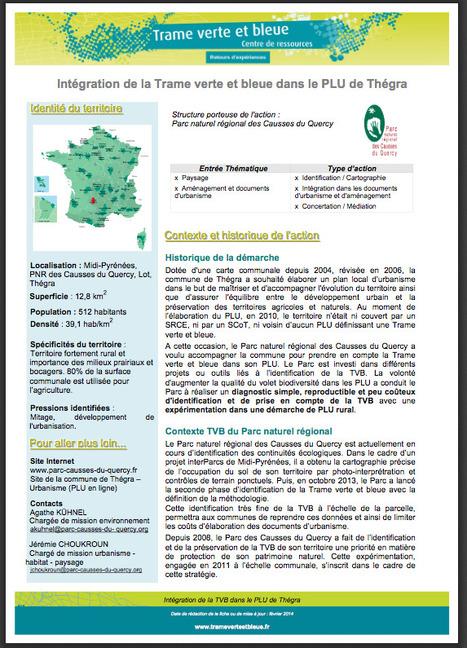 Intégration de la Trame verte et bleue dans le PLU de Thégra | Centre de ressources Fédération des parcs naturels régionaux | Scoop.it