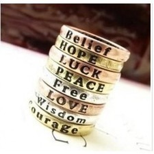 Cheapest Simple Vintage Letter Rings Jewelry SP10104 | fashion and cheap jewelry | Scoop.it