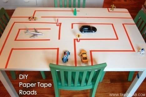 DIY Paper Tape Roads | TinkerLab --- Creative Projects for Kids | Learn through Play - pre-K | Scoop.it