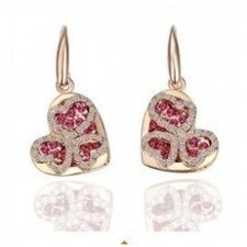Gorgeous Crystal Heart Rose Gold Plated Earrings,Jewelry Set R065 | fashion and cheap jewelry | Scoop.it