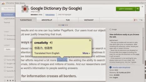 Tapaus Googlen sanakirja | Opeskuuppi | Scoop.it