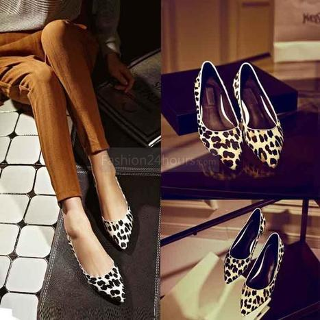 [$58.99]Pointed Leopard Print Flat Shoes | Where do you usually shopping online | Scoop.it