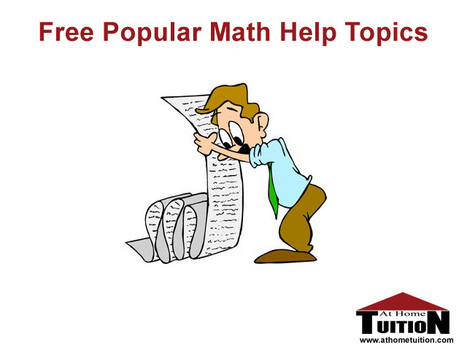 Popular Math Help Topics | Online Tutoring | Math, English, Science Tutoring | Scoop.it