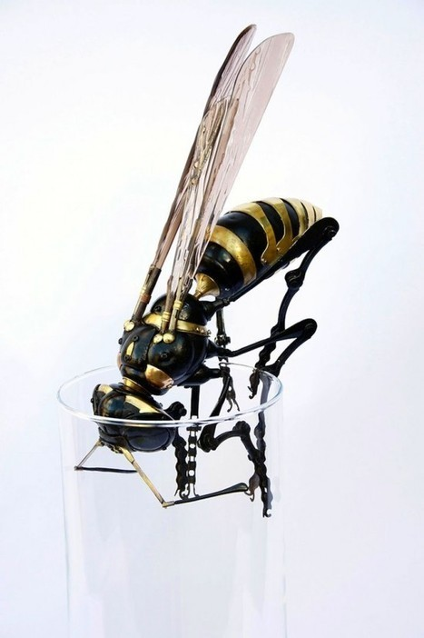 French Artist Assembles Junk into Amazing Insect Sculptures | Strange days indeed... | Scoop.it