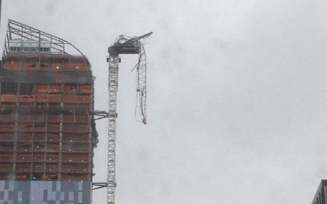Watch: Crane Dangles Above NYC During Hurricane Sandy | Media for development | Scoop.it