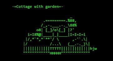 COTTAGE - ASCII ART | ASCII Art | Scoop.it
