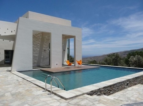 Connected to the Landscape:  Contemporary Home in Andros, Greece by Klab Architecture | PROYECTO ESPACIOS | Scoop.it