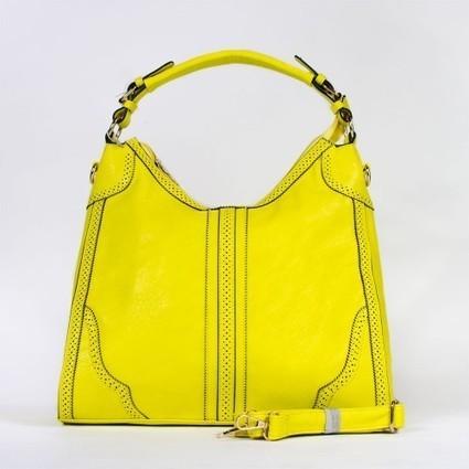 Sac à main cabas à empiècements perforés jaune citron ou rose fuchia   Accessoires de mode femme   Scoop.it