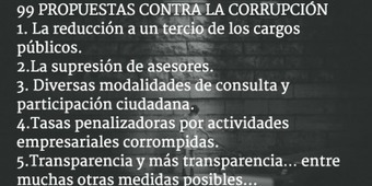 RSE.- 99 propuestas reales contra la corrupción ([descarga} | Smarts Governments, Smarts Cities | Scoop.it