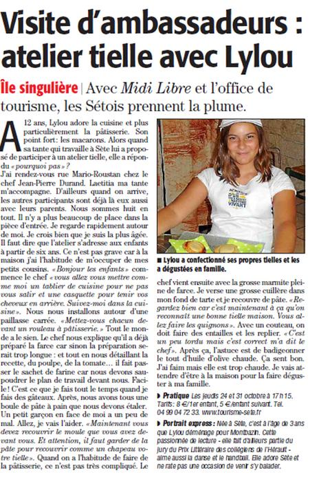 Atelier Tielle avec Lylou | Sète Tourisme : les ambassadeurs-reporters sur le terrain | Scoop.it