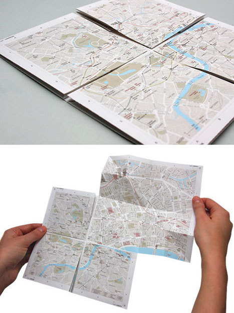 Fantastic design for a low-tech, zoomable paper map - Core77 | Paper Horizon | Scoop.it
