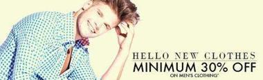 Minimum 30% off on Men's clothings-Flipkart   offersmania.in   Scoop.it