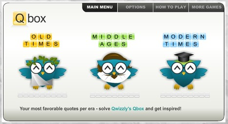 Qbox - Free quotes game | Games and education | Scoop.it