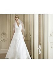 A Line Halter Brush Train Taffeta Ivory Wedding Dress H1ly0002 for $923 | Landybridal 2014 wedding dress | Scoop.it