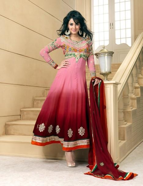 Gravity Fashion - Contemporary Deep Pink & Pink Salwar Kameez   Bollywood Anarkali Dresses   Scoop.it