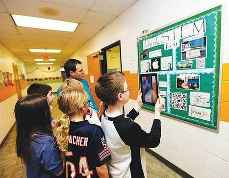 App makes bulletin boards come alive at Green school - New Jersey Herald | Digital Storybooks | Scoop.it