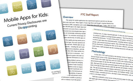 F.T.C. Finds Privacy Problems With Apps for Children | Legislation | Scoop.it