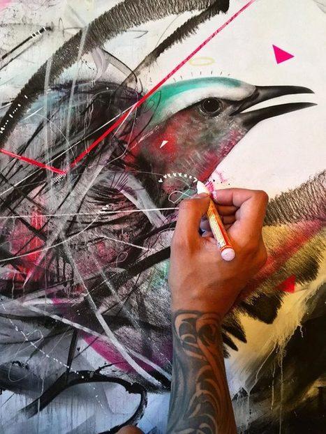 Street Art Birds – Les créations explosives et colorées de L7M | Street Art | Scoop.it
