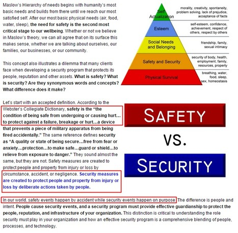 The Difference Between Safety and Security   eSkills   TEACHERMELINACT   Scoop.it