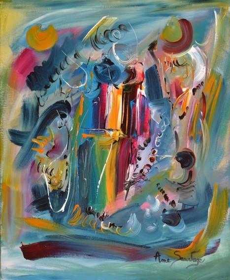 Peinture abstraite contemporaine et moderne d'artiste peintre | Artiste peintre contemporain | Scoop.it