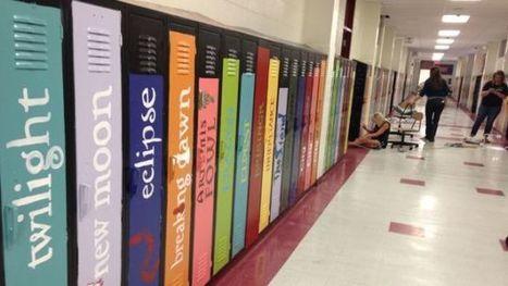 Teachers Decorate School Lockers To Look Like Gigantic Bookshelf   Science   Scoop.it