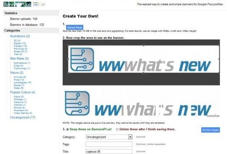 Crea banners para tu perfil de Google Plus | Aplicaciones y Herramientas . Software de Diseño | Scoop.it