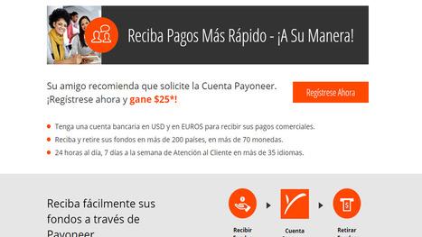 Payoneer una forma de cobrar tus ingresos en internet | AgenciaTAV - Asistencia Virtual | Scoop.it