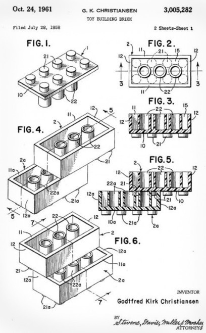 LEGO Patent Drawing form 1958   #Design   Scoop.it