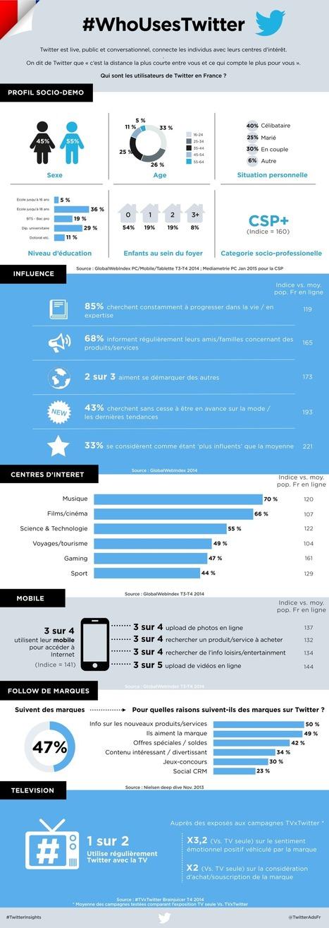 [Infographie] Les utilisateurs de Twitter en France | Mon cyber-fourre-tout | Scoop.it
