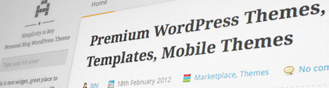 20+ Free and Premium WordPress Blog Themes   Wordpress Resources   Scoop.it