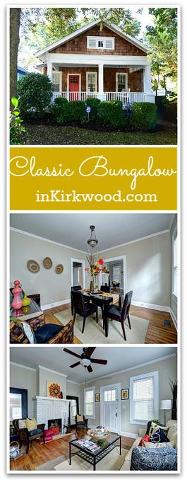 Kirkwood Bungalow for Sale   1923 Delano Drive   Atlanta Bungalows   Scoop.it