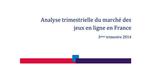 L'ARJEL publie ses chiffres pour le T3 / 2014 | Paris sportifs & bookmakers | Scoop.it