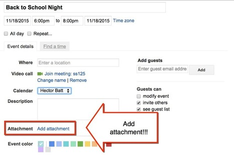 Google Calendar: Add Attachments  :: Teacher Tech :: Alice Keeler | Into the Driver's Seat | Scoop.it