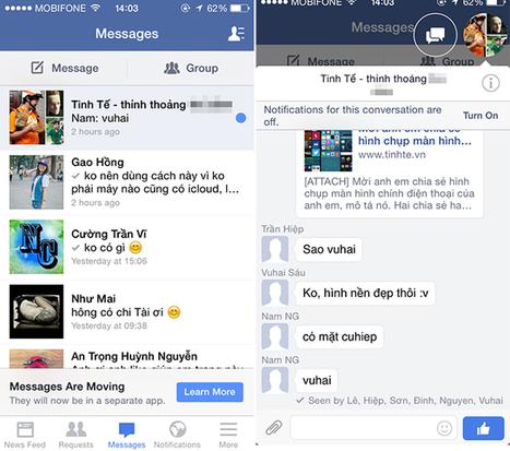 [iOS] Cách chat bằng app Facebook không cần cài thêm Messenger | YeuMobileVN | Scoop.it