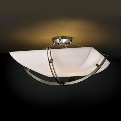 Justice Design Group CrossbarSix Light Semi Flush | Blog | John S.'s blog | Lamp | Scoop.it