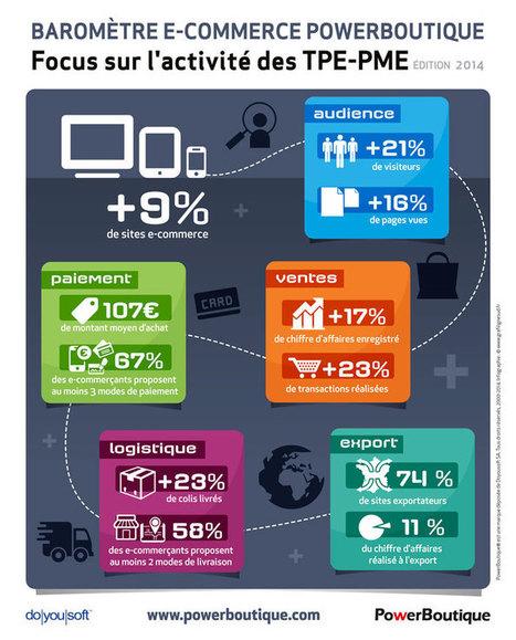 Baromètre e-commerce des #TPE #PME françaises - Blog E-commerce PowerBoutique | Webmarketing | Scoop.it