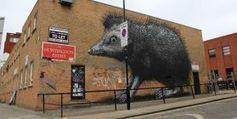 Street art londonien : suivez le guide !   Art imitates life imitating Art   Scoop.it