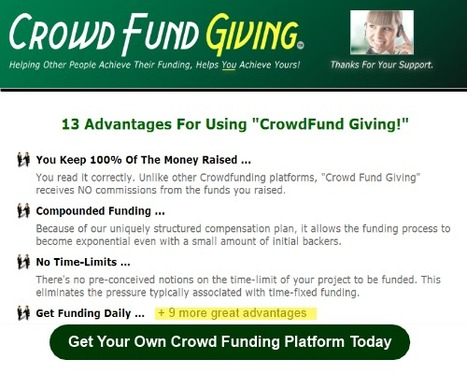 Crowd Fund Giving Revolution | Independent Business Owners | Scoop.it