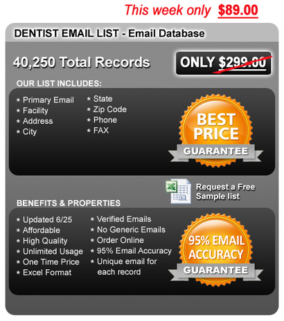 Dentist Email List & Dentist Email Marketing | Medical Mailing Lists | Scoop.it
