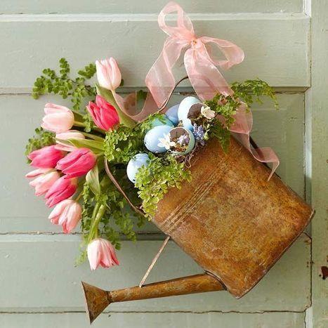 DIY Spring Door Wreath | DIY Craft Ideas For The Home | Scoop.it