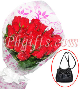 A dozen of fresh long stemmed roses bouquet with Sophie bag raffle deliver to your aunt this Mothers Day - Ladies_Bag#001 | MOTHER'S DAY GIFT IDEAS | Scoop.it