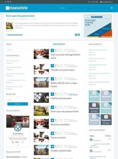 TM Magazinite - Blog and Magazine Joomla Template | Free & Premium Joomla Templates and WordPress Themes | Scoop.it