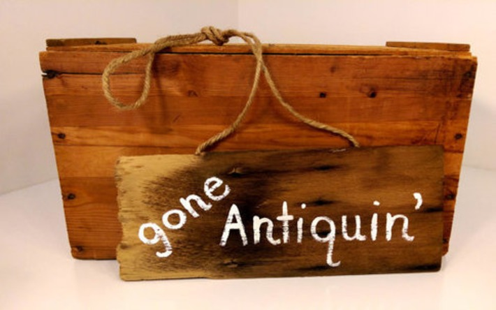 Gone Antiquin' Recycled Antique Wooden Shingle Sign Door Hanger | Antiques & Vintage Collectibles | Scoop.it