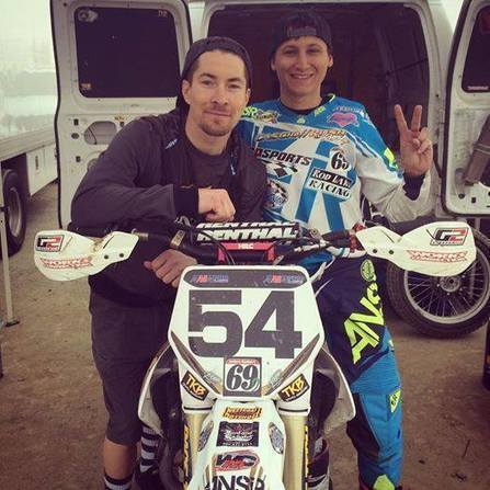 Mike Rush testing with Nicky at Perris on Friday.   He the drove all night to at... | California Flat Track Association (CFTA) | Scoop.it